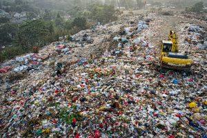 Plastic waste mountain