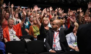 Voting at Labour Party Conference