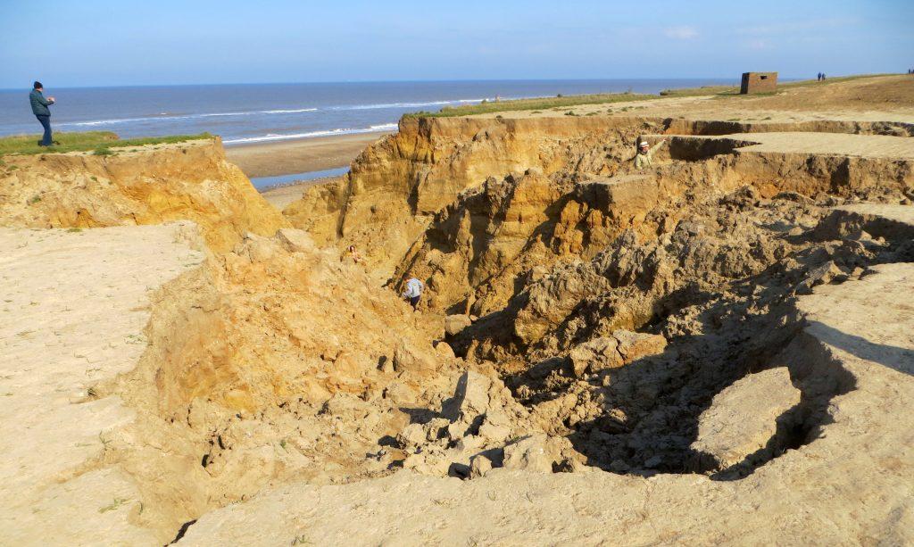 Coastal erosion in Happisburgh, Norfolk
